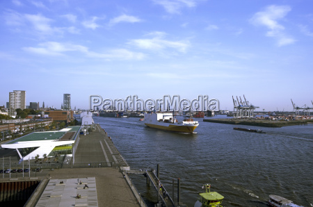 germany hamburg view of harbour with