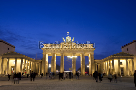 germany berlin view of brandenburger gate