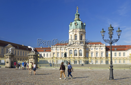 germany berlin view of charlottenburg castle