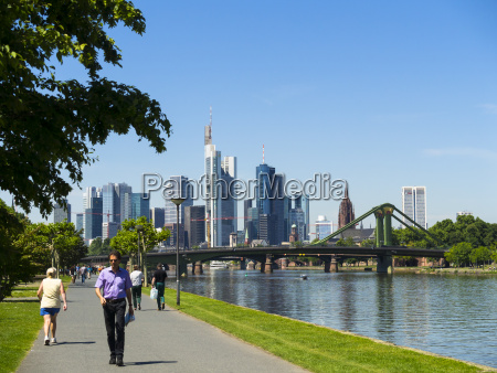 germany hesse frankfurt river main and