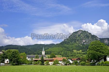 germany bavaria oberallgaeu village of bad
