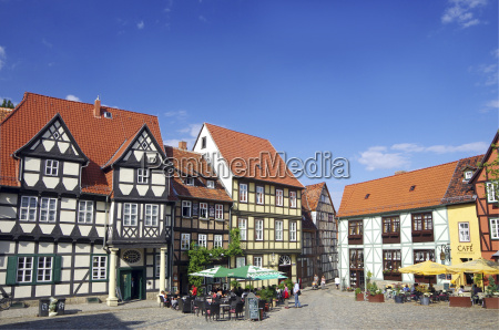 germany saxony anhalt quedlinburg square with