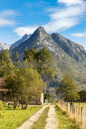 slovenia bovec hiking trail at kanin