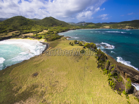 caribbean st lucia aerial view of