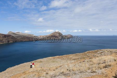 portugal madeira view of volcanic peninsula