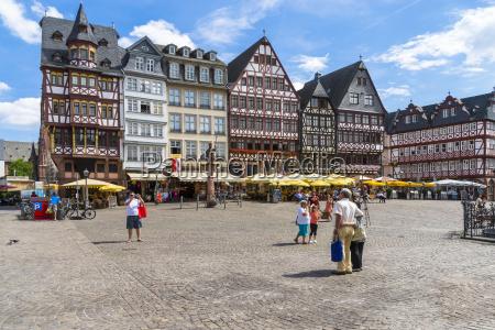 germany hesse frankfurt roemerberg timberframe houses