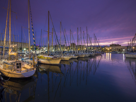 italy sicily palermo harbour with sailing