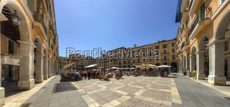 spain mallorca palma view of plaza