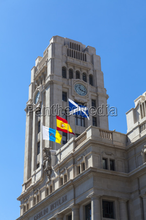 spain view of government building at