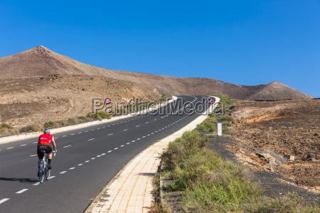 spain canary islands lanzarote coastal road