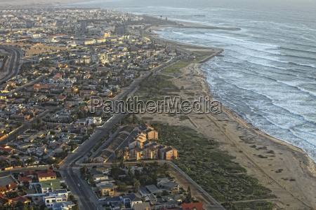 namibia skeleton coast aerial view of