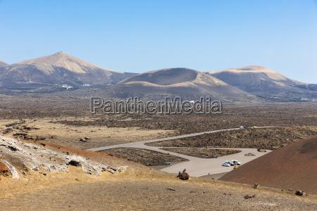 spain canary islands lanzarote montanas del