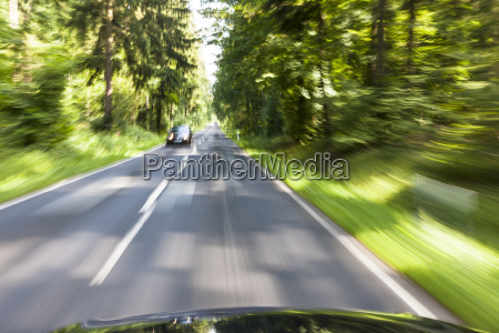 germany baden wuerttemberg car passing through