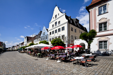 germany bavaria gunzburg view of pavement