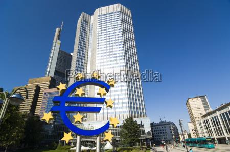 germany hesse frankfurt european central bank