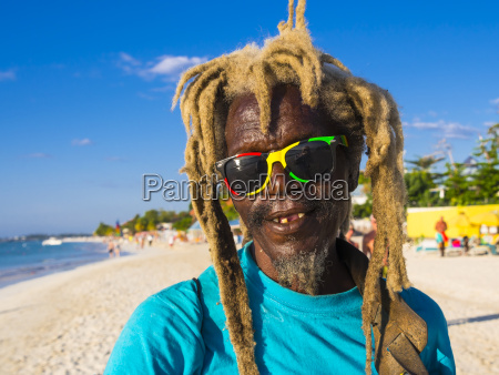 jamaica negril native with blond coloured