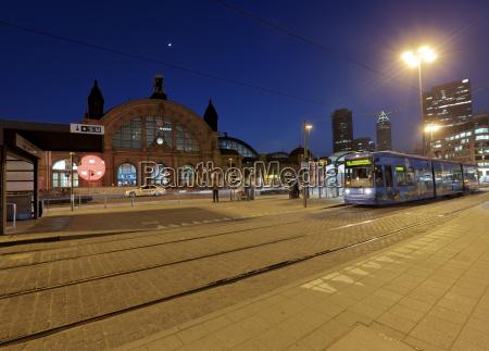 germany hesse frankfurt tram in front