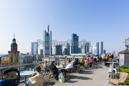 germany hesse frankfurt view from roof