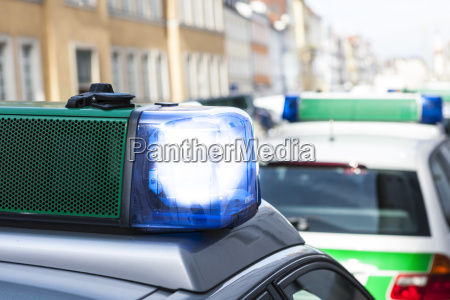 germany bavaria landshut police car with