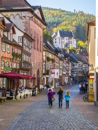 germany miltenberg view to alley of