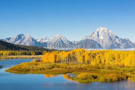 usa wyoming rocky mountains teton range