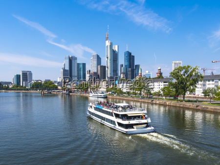 germany hesse frankfurt excursion boat on