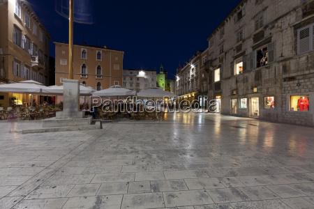 croatia split old town and restaurants