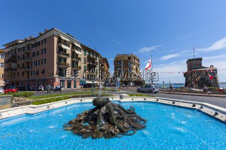 italy liguria rapallo hotel fountain and