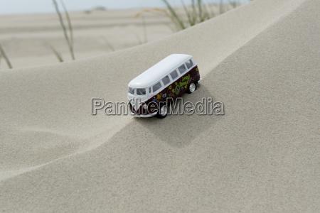 germany amrum toy bus on dune