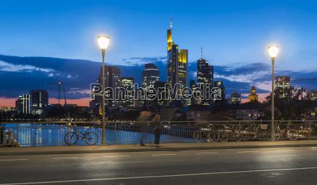 germany hesse frankfurt old bridge and