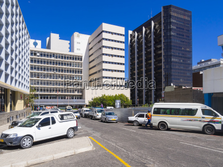 namibia windhoek financial district at independence