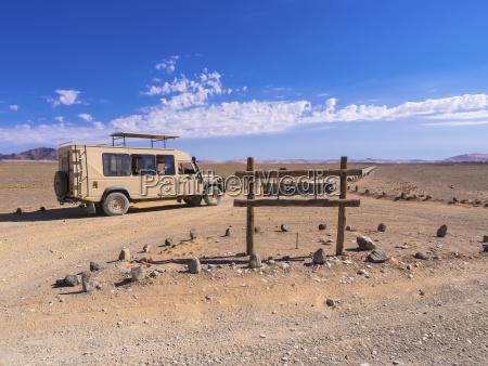 namibia hardap vehicle on dirt road