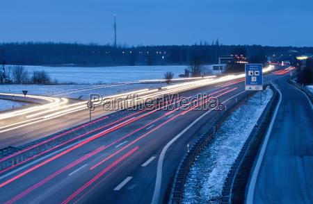 germany brandenburg view of traffic on
