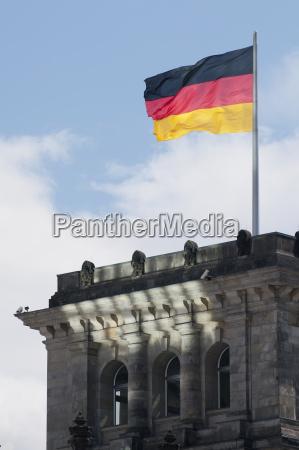 germany berlin german flag at reichstag