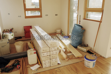 material and tool storage in kitchen