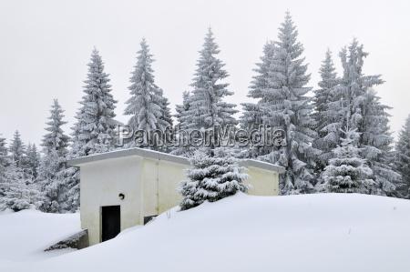 germany thurinigia oberhof hut at the