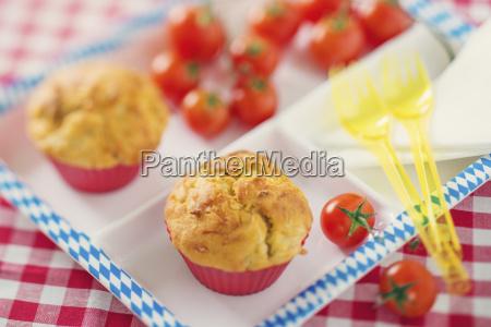 muffins with bratwurst and sauerkraut on