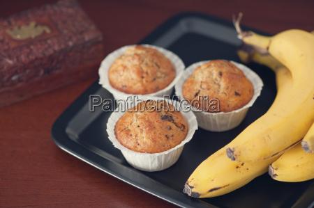 banana muffins with walnut and chocolate