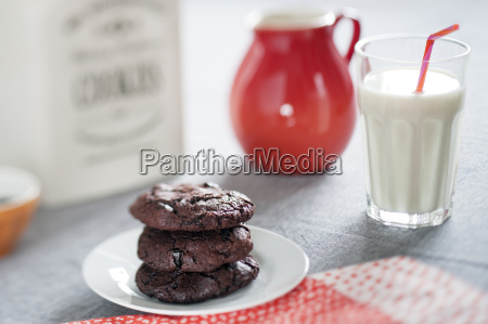 chocolate cookies with dried sour cherries