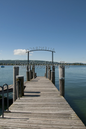 germany baden wuerttemberg view of pier