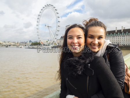 uk london portrait of two young