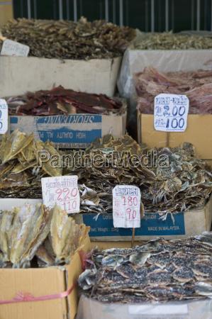thailand bangkok dried fish at market