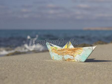spain formentera little paper boat folded