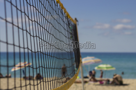 spain formentera volleyball net on the