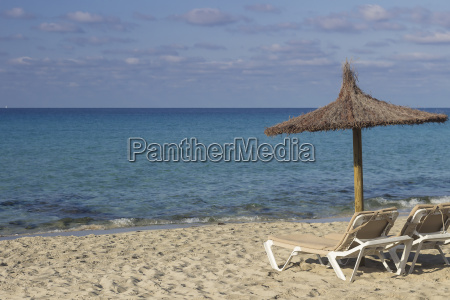 spain formentera es arenals sunshade and