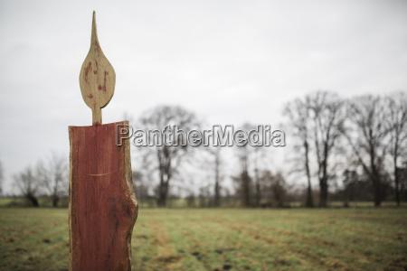 germany brandenburg oversized wooden advent candles