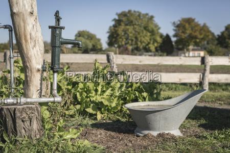 germany brandenburg water pump and tub
