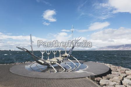 iceland reykjavik island reykjavik modern sculpture