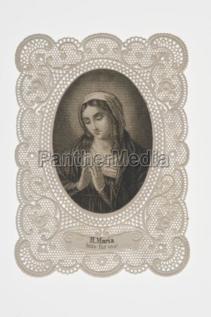 frame of blessed virgin mary close