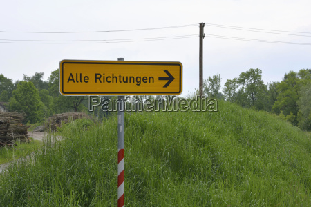 germany sign post at rural scene